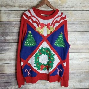 EUC Tipsy Elves ugly Christmas holiday sweater